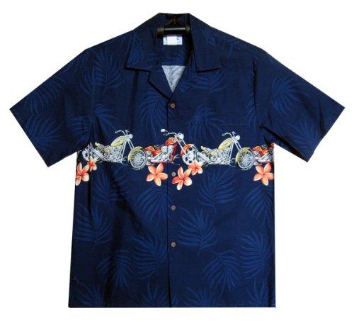 MD - Chemise Hawaienne Authentique Originale Taille L, Bleu