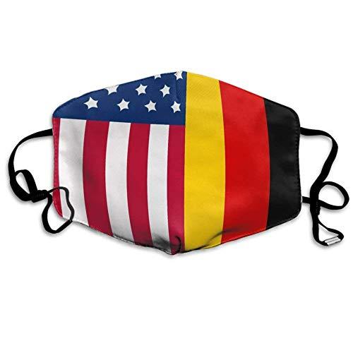 Mundschutz Gesichtsschals, Earloop Half Face Schal für Frauen Männer, Cosplay Painting Gesicht und Nasenschutz mit verstellbarem Gummiband - German American Flag