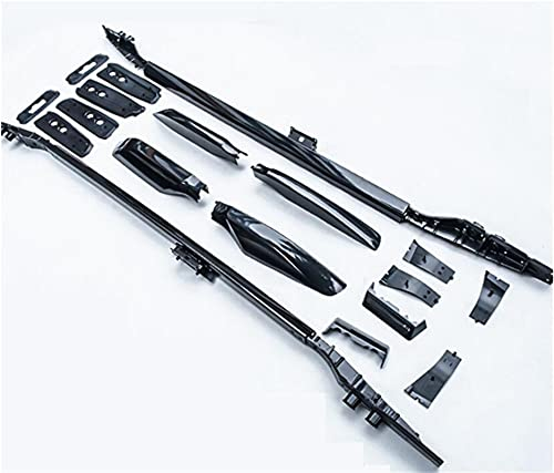 XIAOZHIWEN Coche Techo Rack Rails Bar Portador de Equipaje Barras Top Bar Racks Cajas de riel para Toyota Land Cruiser Prado 150-2021 (Color : Black)