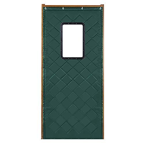 WUFENG Deau De Porte Épaissir Coton Isolation Isolation Robuste Coupe-vent Avec Fenêtre, 2 Couleurs 19 Tailles (Couleur : Green, taille : 150x240cm)