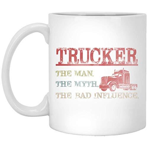 Trucker Man Myth Bad Influence Vintage Mug Tea Mug Funny Vegan Cofee Mug Gifts 11 oz Cup