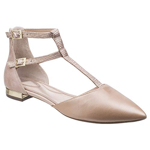 Rockport Femmes Adelyn T-Strap Chaussures Plates Cheville Blush 37