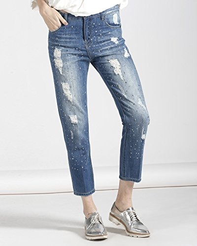 Silvian Heach Jeans WULTER, Blu Denim, 26 Donna