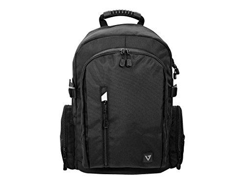 V7 CBE17-BLK-9E Elite Rucksack für Notebook-/Tablet bis 43,9cm (17,3 Zoll) schwarz