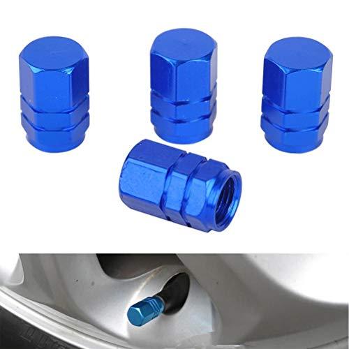 tapas de válvulas 4pcs válvula del neumático del coche de los casquillos de bicicletas de aluminio a prueba de herrumbre de válvula coche Caps Accesorios for automóviles Para neumáticos