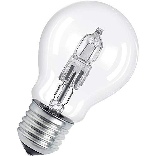 Osram Classic A Halogen-Lampe, E27-Sockel, dimmbar, 57 Watt - Ersatz für 75 Watt, Warmweiß - 2800K