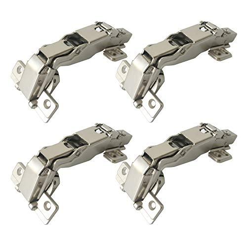 LIKERAINY 165-175 Grado Superposición Total Bisagra 35mm con Amortiguador Clip-on Tecnología Totalmente Solapado Bisagras para Puertas de Mueble Armarios de Cocina 4Pcs