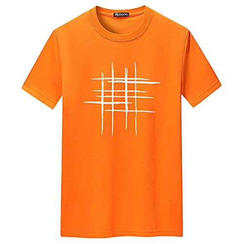 T-Shirt Uomo Moderno Classico Moda Girocollo Regular Fit Uomo Shirt Estate Tendenza Moda Astratta Stampa Uomo Maniche Corte Quotidiano all-Match Uomo Casual Camicie