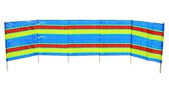 Bo-camp - Paravent plage - 5 compartiments , Mixte Adulte, Multicolore, 462 x 90 cm