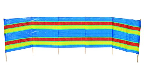 No Label Fences Camping Paravent 5-comp 462 x 90 cm PE/Holz Multicoloured