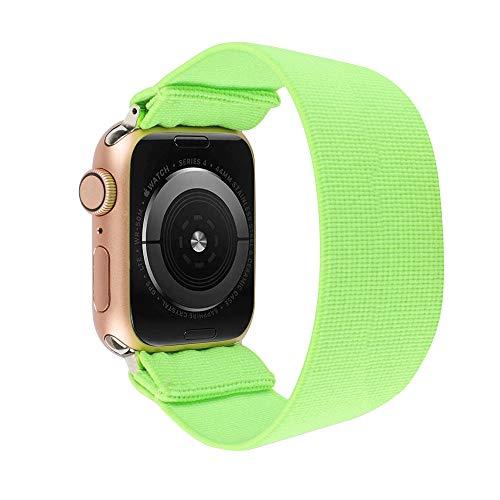 ToYOUTHS - Pulsera elástica de repuesto para Apple Watch, 42 mm, 44 mm, para hombres y mujeres, deportes, para el tiempo libre, para iWatch Serie 5 4 3 2 1 (verde claro, tamaño grande)