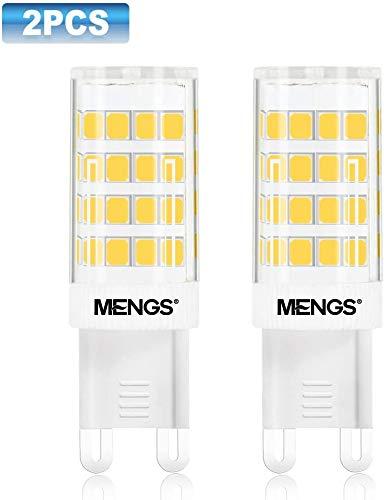 MENGS 2 pezzi G9 LED Lampadine a LED G9 5W (Equivalente a 40W) Lampada a LED Bianco Caldo 3000, AC 220-240V, 480 Lumen, Luce a LED