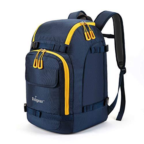Unigear Skischuhtasche mit Helmfach und Rucksackgurten, Skirucksack Skischuhrucksack mit Helmtasche, Skitasche Siksack für Skistiefel, Schlittschuhe, Snowboard, Inline-Skates