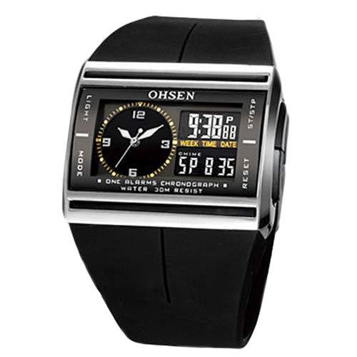 CplaplI OHSEN Relojes LED Analógico Digital Fecha Luminosa Banda De Goma Deporte Hombre Reloj De Pulsera para Niño