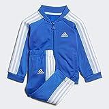 adidas I Shiny TS, Tuta Unisex Bambini, Blu/Azubri/Bianco, 92