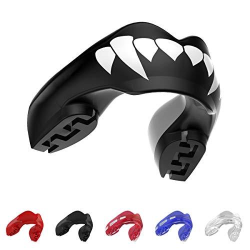 SAFEJAWZ, férula Protectora para aparatos dentales. Protector Bucal. para Todos los Deportes de Contacto, incluidos Rugby, MMA, Artes Marciales de Kickboxing, Judo, Hockey y Boxeo (Fangz)