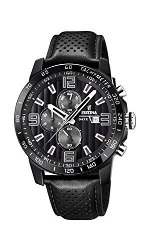 Festina heren chronograaf kwarts horloge met lederen armband F20339/6