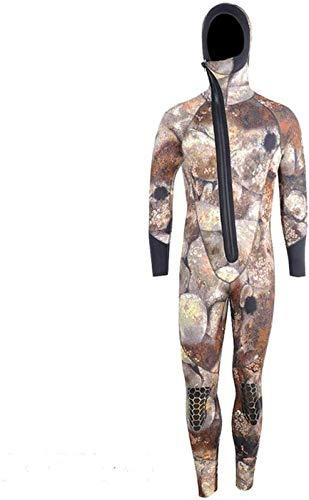 Traje de buceo con cremallera frontal de 5 mm de manga larga o corta de neopreno para hombres de buceo, esnórquel, traje de neopreno subacuático, caza, surf, C-XXLarge