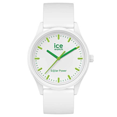 ICE-WATCH ICE Solar Power Nature - Reloj Blanco para Mujer con Correa de Silicona, 018473 (Small)