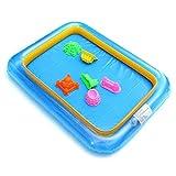 Caja de arena, interior para jugar, hinchable, grande, caja de arena, forma de juguete, portátil, hinchable, caja de arena, juego formable, bandeja de arena para niños, niños, arena, color aleatorio