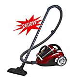 Aspirateur domestique, aspirateur haute puissance 2600W sans consommables, sac sans poussière anti-poussière 220V