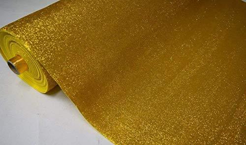 Fabrics-City EVA Musgo Goma Glitter Manualidades 2 mm, 4232 Oro