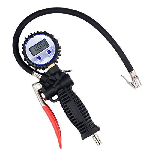 RZ TOOLS Manómetro [ Profesional ] Neumáticos Digital Gasolinera Presión Aire Comprimido...