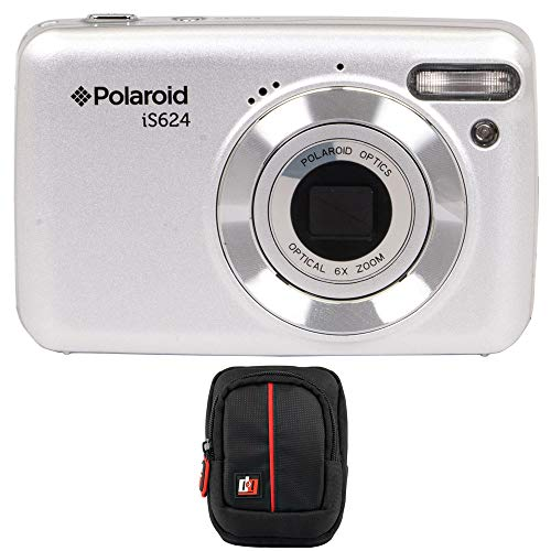 Vivitar Polaroid IS624 16MP 6X Optical Zoom Digital Camera (Silver) Bundle with Deco Gear Case Illinois