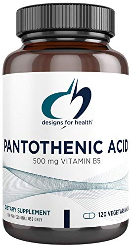 Designs for Health Pantothenic Acid Capsules - 500mg Vitamin B5 Supplement - Non-GMO + Gluten Free (120 Capsules)