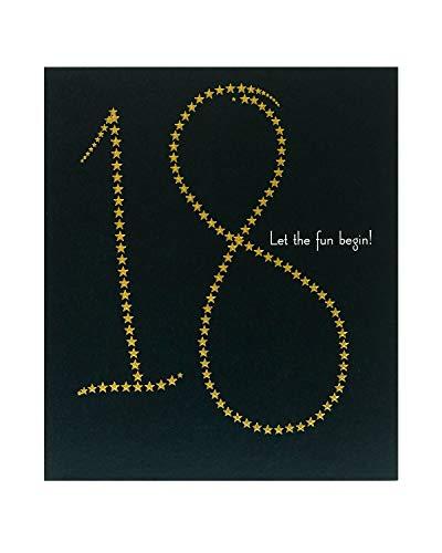 Geburtstagskarte zum 18. Geburtstag für ihn – Geburtstagskarte für Sie – Goldfolie Sterne Design