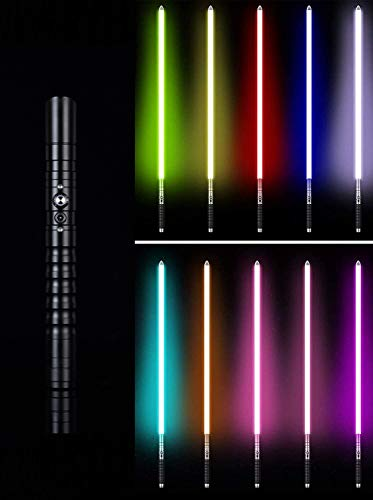 Metal Lightsaber Grade Light Sable Sable Sable Spar Sword Metal Manija 11 Color Cambio de iluminación, Niños Adulto Juguete Regalo Accesorios