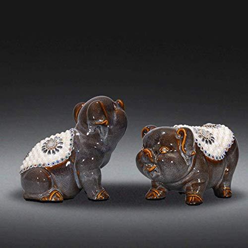 WOREX Sculpture Design Éléphant Chanceux décoration décoration en céramique Salon Armoire à vin Meuble TV Cadeau à la Maison
