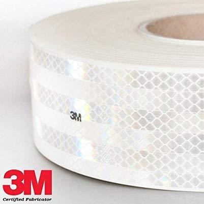 StickersLab-catadióptrico Marca homologada adhesivo 3 m Diamond Grade 983 por separado de los vehículos, color rojo, blanco o amarillo al metro 1 metro blanco