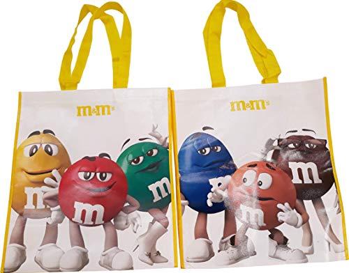M&M Einkaufstasche, wiederverwendbar, recycelt, alle Charaktere, Blau, Braun, Grün, Rot, Orange, Gelb