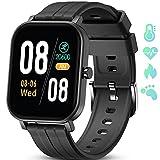GOKOO Smartwatch,1.65' Touch Screen Orologio Fitness Activity Tracker Uomo Donna Sport Smart Watch con IOS Android Notifiche Messaggi da Cronometro Smartband Cardiofrequenzimetro Controller Musicale