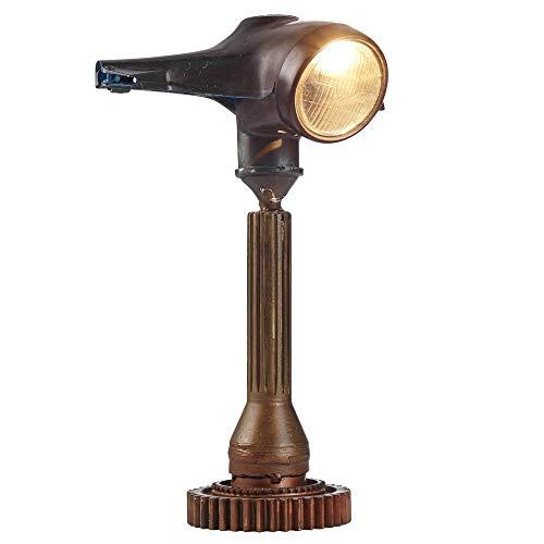 KS-Furniture Tischlampe WL3.130 Braun 57cm Eisen Stehlampe Vintage Nostalgie Style | Roller-Retro Design Nachttischleuchte | Industrial Lampe E27 Fassung Metall | Tischleuchte mit griechischem Flair