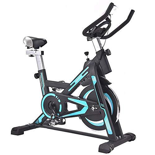 Bicicleta de spinning Inicio de bicicleta de ejercicios Silencio Montar bicicleta estática for el hogar Cardio Workout Trainer bicicletas bicicleta del ejercicio (Color: azul, tamaño: 101x49x113cm) yq
