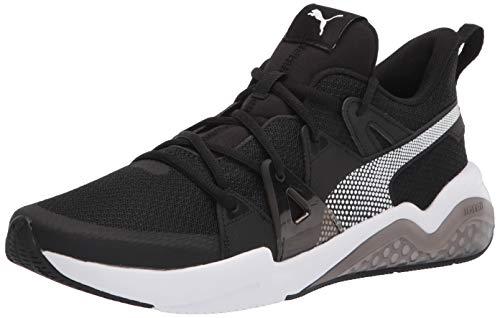PUMA Men's Cell Fraction Running Shoe, Black White-Castlerock, 10