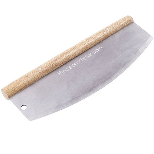 Pizzamesser – Wiegemesser – Pizzaschneider – 35cm – 10 Jahre Garantie! – Precision Kitchenware