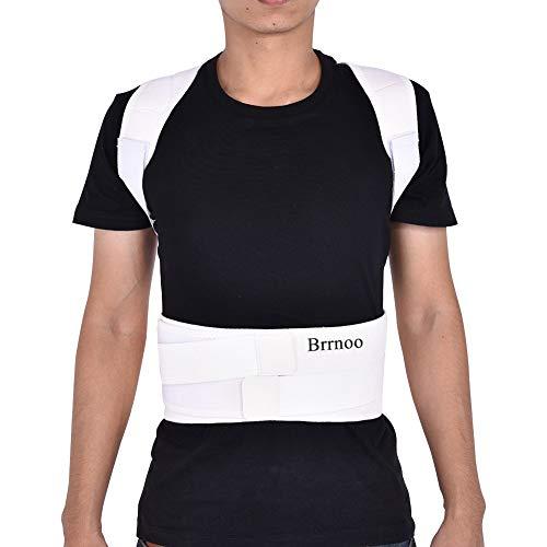Haltungskorrektur Geradehalter Ultradünn Atmungsaktiv Superelastisch Rückenbandage zur Schulter Rücken Taille für Männer und Frauen (Taillenumfang für 80cm-120cm)(S-Weiß)
