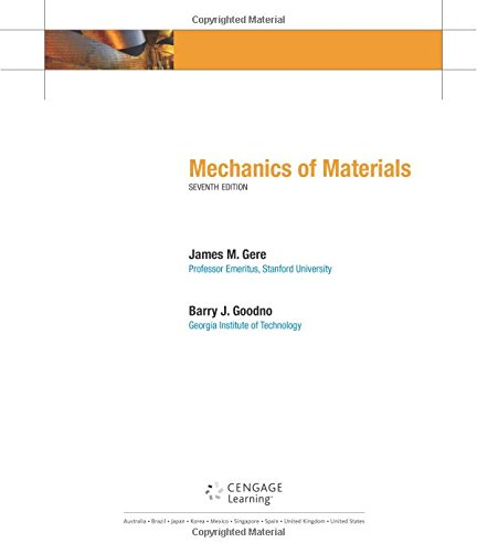 Mechanics of Materials (Available Titles CengageNOW)