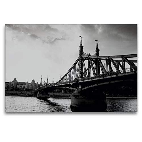 CALVENDO Premium Textil-Leinwand 120 x 80 cm Quer-Format Freiheitsbrücke, Leinwanddruck von FB Frank Baumert