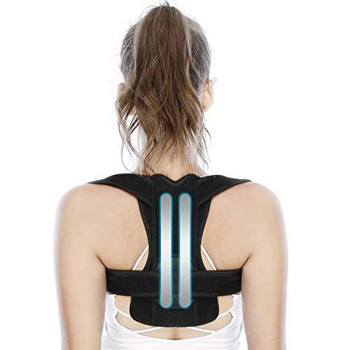 Correttore Postura Fascia Traspirante Regolabile Posturale Correzione per Uomo e Donna Allevia il Dolore alla Schiena al Collo e alle Spalle