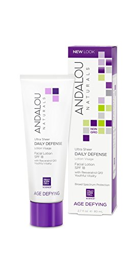Andalou Naturals Ultra Sheer Daily Defense Facial Lotion SPF 18, 2.7 Ounces
