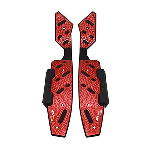 Reposapiés Motocicleta para Honda ADV 150 ADV 125 ADV.150 2019 2020 2021 Motorcycle CNC Reposapiés Footpegs Footpegs Pie Pegs Pedales Traseros Establecer Partes (Color : Red)