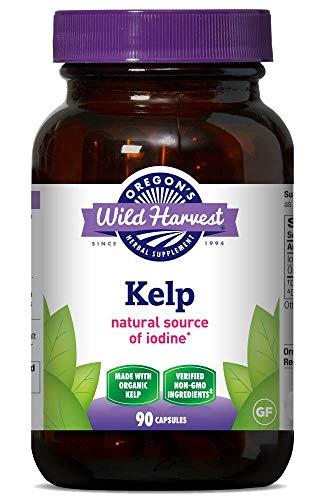Oregon's Wild Harvest, Certified Organic Kelp Capsules with Iodine, Herbal Supplement, 90 Ct