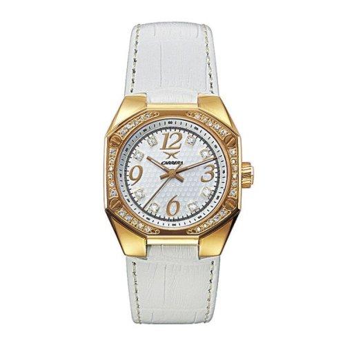Carrera Sprint Lady 4288963 - Reloj de mujer de cuarzo con correa de piel blanca