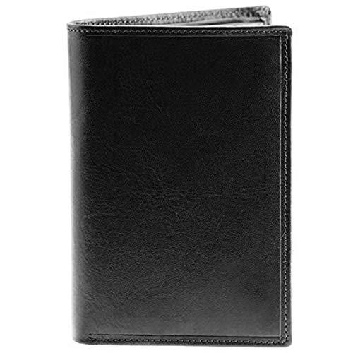 Charmoni - Grand Classique Portefeuille en Cuir Vachette - Protection RFID Blocage - Homme (Noir C06)