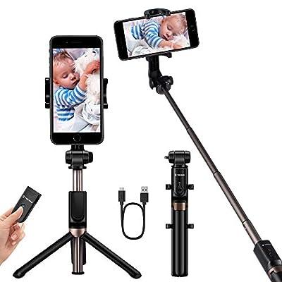 YOKKAO Upgraded Waterproof Selfie Stick Bluetooth Tripod Selfie Stick Extendable for iPhone Xs MAX iPhone 8 iPhone 8 Plus iPhone 7 Plus Galaxy Note S9 Plus S8 S7 S6 Huawei from Yokkao