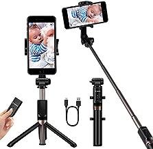 YOKKAO Upgraded Waterproof Selfie Stick Bluetooth Tripod Selfie Stick Extendable for iPhone Xs MAX iPhone 8 iPhone 8 Plus iPhone 7 Plus Galaxy Note S9 Plus S8 S7 S6 Huawei